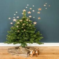 Weihnachtsbaumschmuck-Kupfersterne