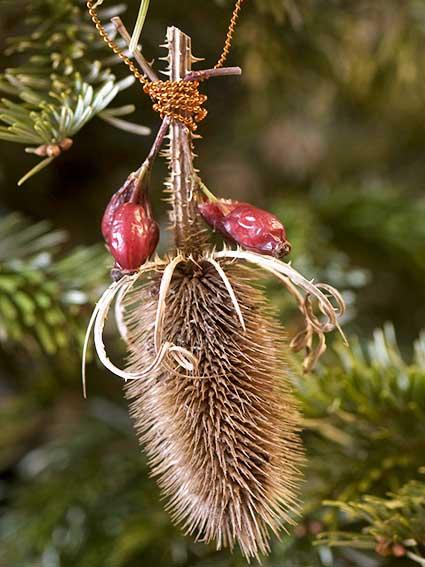Christbaumschmuck Aus Naturmaterial Weihnachtsbaum At